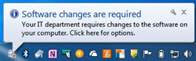 Software Changes Are Required pop-up message