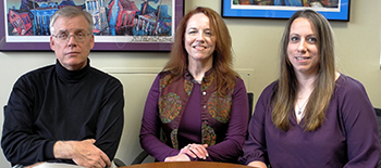 UTMB professor Kathryn Cunningham (middle), with fellow researchers Noelle Anastasio, a UTMB postdoctoral fellow, and Scott Gilbertson, a University of Houston professor and a former UTMB researcher.