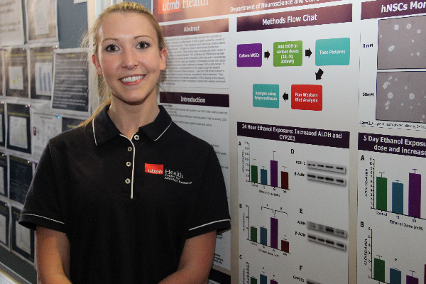 Erica McGrath, second year graduate student in the UTMB Human Pathophysiology and Translational Medicine program.