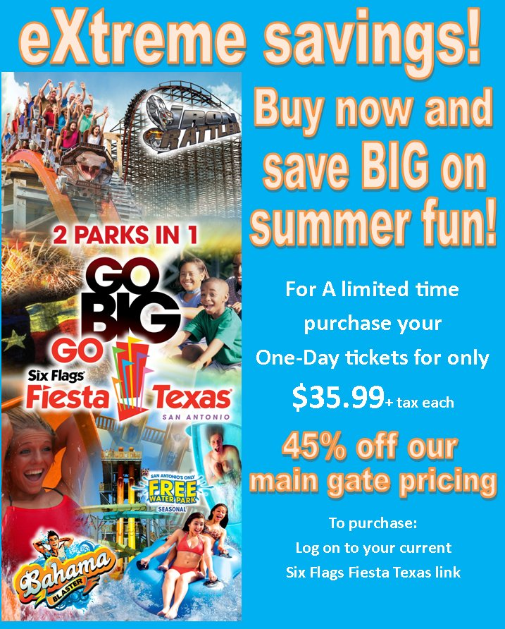 Six flags texas coupons