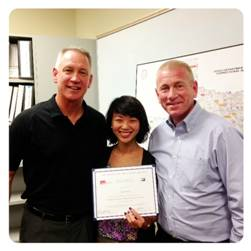 Kelly Coates, Dr. Emily Tong and Dr. Owen Murray