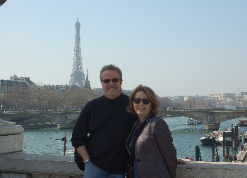 Rebecca and her husband Neal Hammond in Paris.
