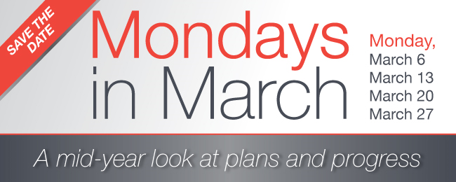Mondays in March - Save the Date