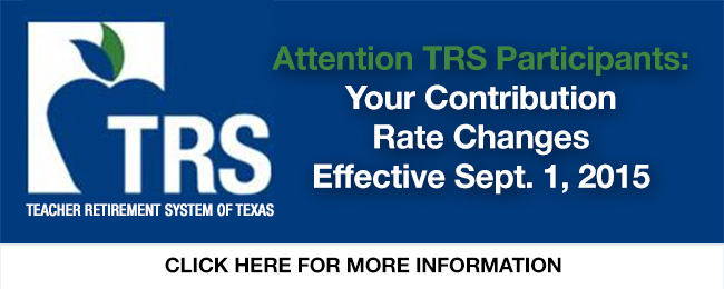 TRS contribution changes