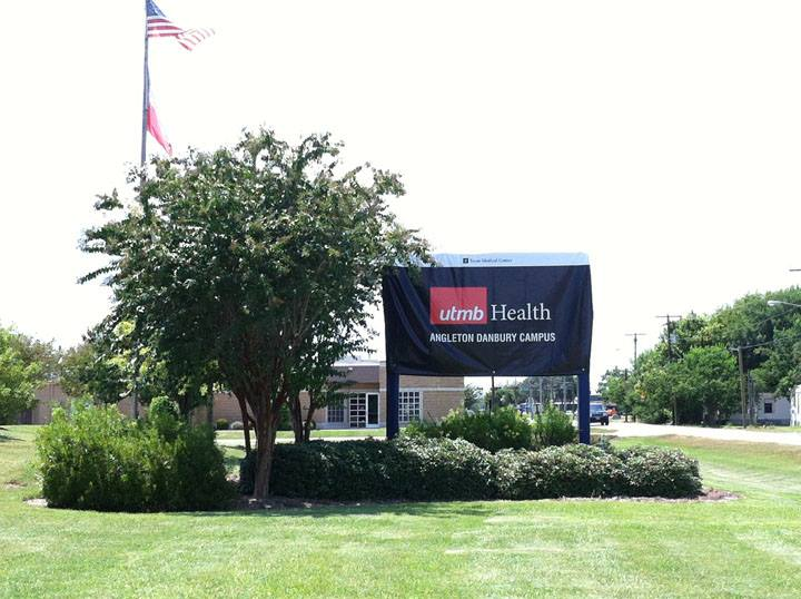 New UTMB Health signage at Angleton Danbury Campus