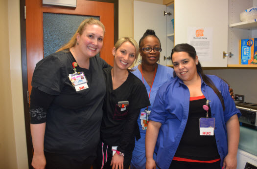 Sharing is Caring: Pediatric/PICU staff provide food for patient families in need