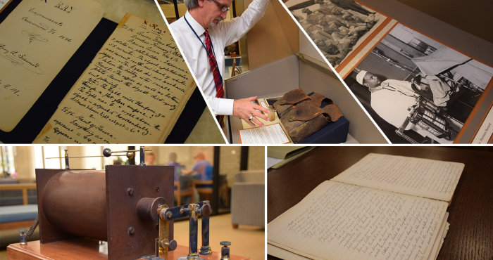 Diaries, artifacts on display tell the stories of UTMB alumni
