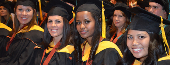 Four Latina graduates from the School of Health Professions