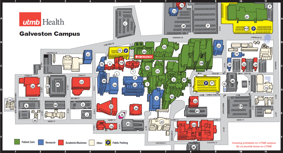 UTMB Health UTMB Home UTMB Health - U of a campus map