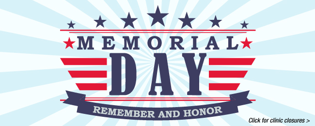 image linking to memorial day hours for UTMB Urgent Care