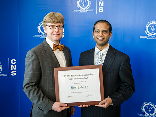 Patel Wins Synthes Cerebrovascular Award