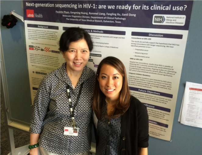 Paulette Pham and Dr. Jianli Dong
