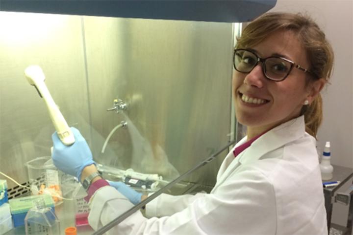 Claudia Marino in the lab