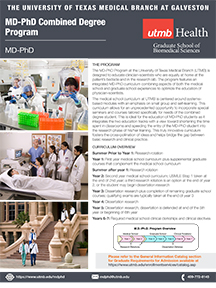 GSBS MD-PhD program flyer
