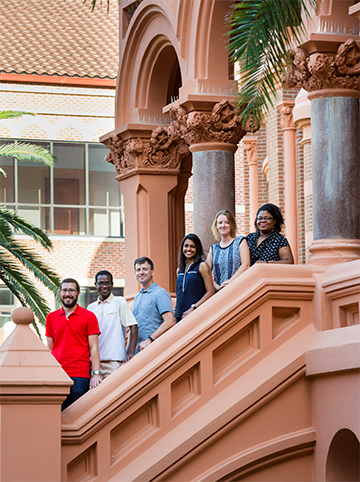 From left to right: Colm Atkins, Michael Opata, James Kasper,  Harshini Neelakantan, Carrie McAllister, Ashley Guillory.