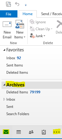 Archived Folders