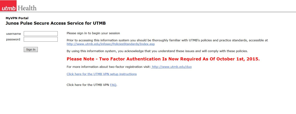 myVPN Setup | Information Services | UTMB Home
