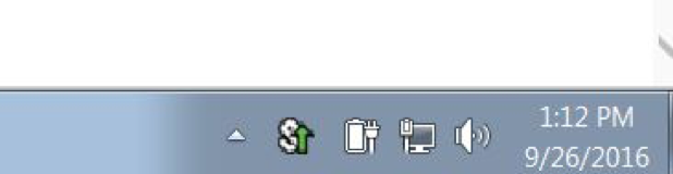 Pulse Icon in the Windows System Tray, in Connected status