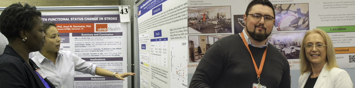 photo of students research poster presentations
