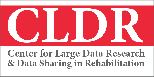 logo for the Center for Large Data Research and Data Sharing in Rehabilitation