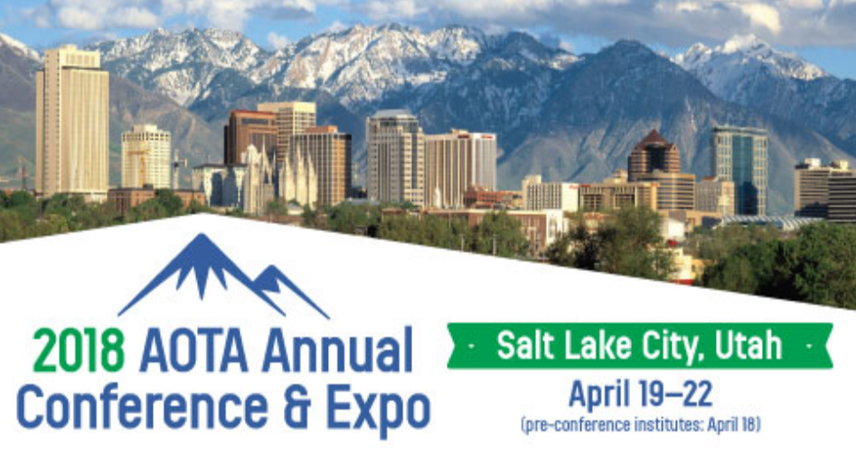 Graphic link to conference 2018 AOTA conference & expo website