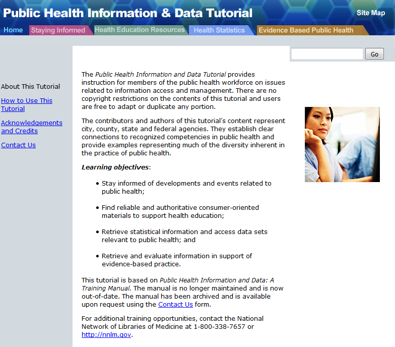 Public Health Information and Data Tutorial