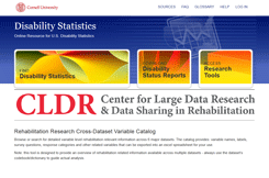Rehabilitation Dataset Directory website screen capture