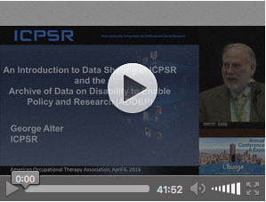 An Introduction to Data Sharing at ICPSR and the Archive of Data on Disability to Enable Policy and Research (ADDEP)