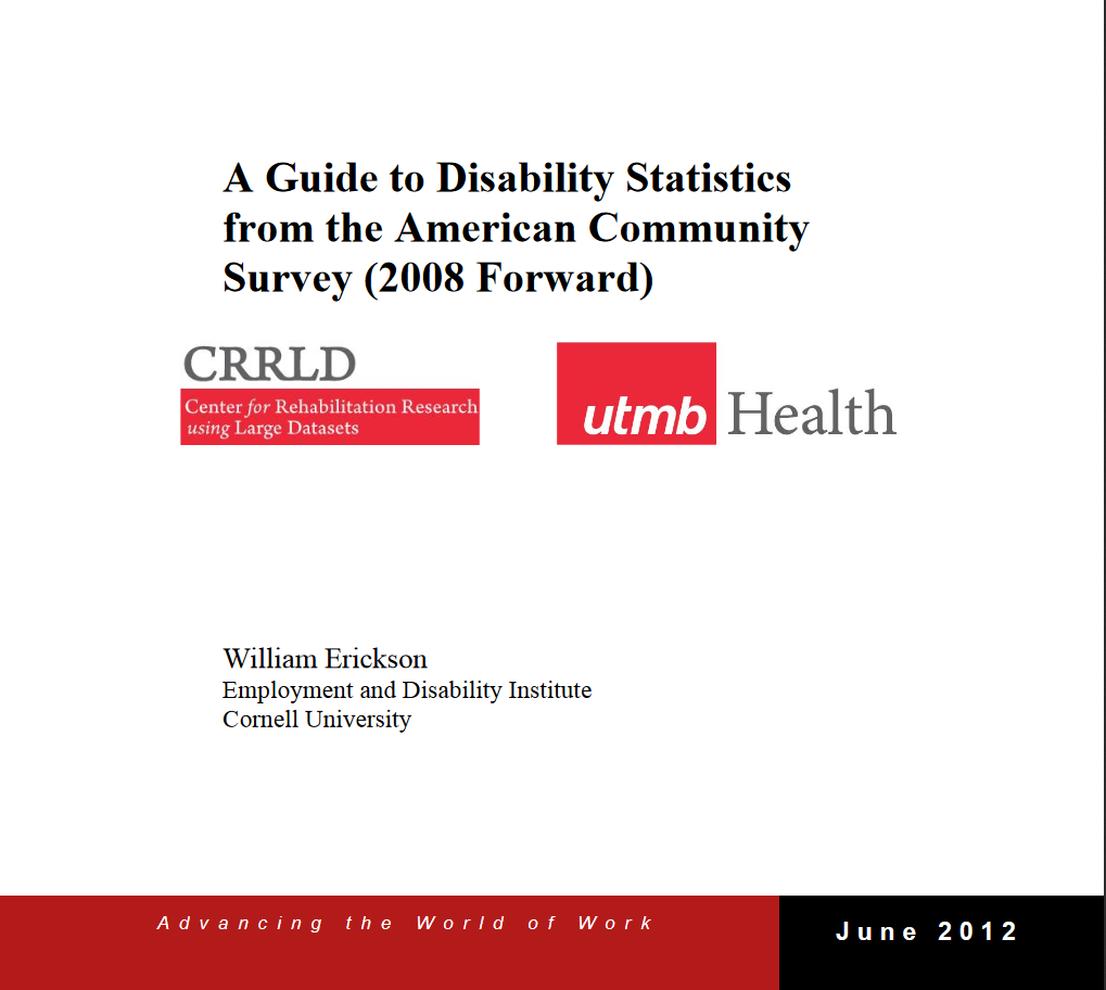 User Guide: Disability Statistics from the American Community Survey
