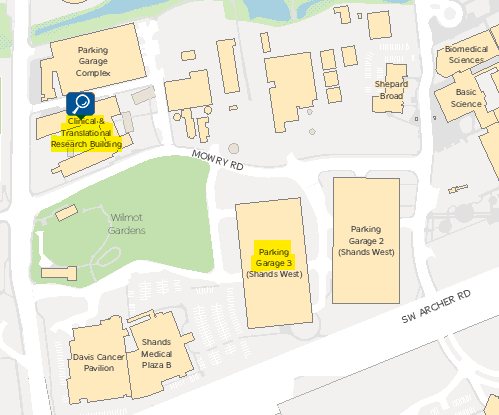 screen capture of campus map
