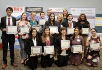 photo of group with awards