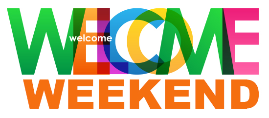 Click here to find more information about Welcome Weekend