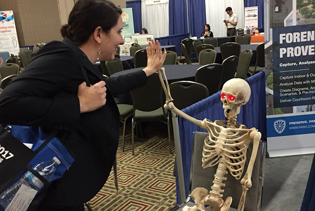 adj_Dr. Catherine Miller making friends at NAME 2017