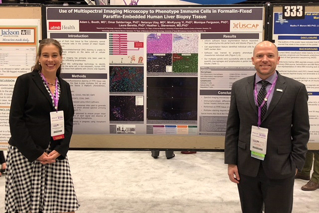 adj_Drs. Heather Stevenson and Adam Booth at USCAP 2018