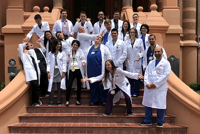 2018 2019 Residents and Fellows Goofing around on picture day
