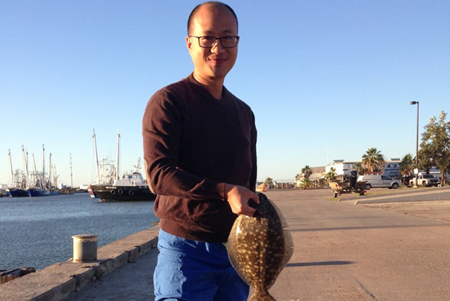 Catching flounders outside the hospital