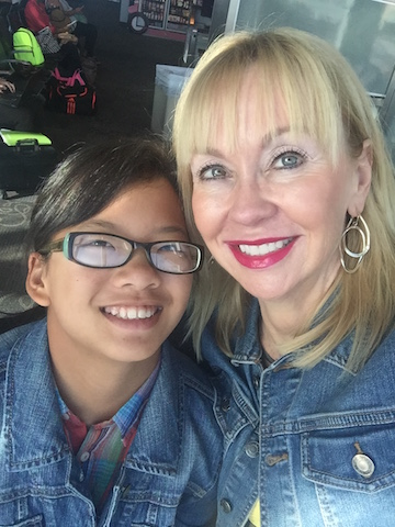 Carrie King and her 11-year-old daughter, Anna Xia.