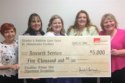 Christy Taylor Bray and her team (L-R): Donna Davis, Pamela Petty, Christy Taylor Bray, Melodi Moore and Heidi Lutz.
