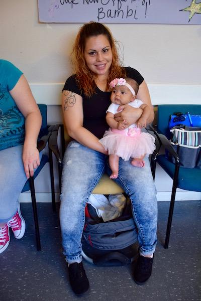 Celia Enriquez and her baby, Ariabella