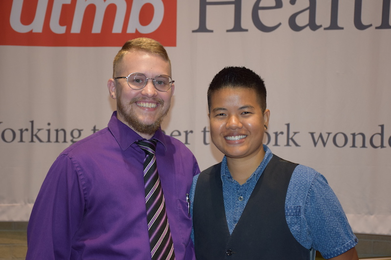 Colt and Becca Keo-Meier recently led a workshop on understanding transgender and human sexuality issues in the workplace for UTMB employees and students.