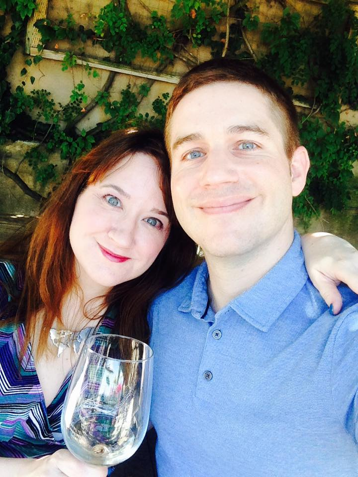 Mari Robinson and her husband, Greg Ritzen, on vacation at a local winery in Valle de Guadalupe, Mexico.