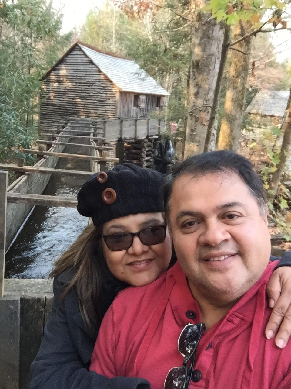 José Cedillo with his wife, Ninfa, at Great Smoky Mountains National Park in Tennessee.