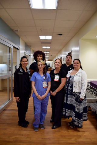 Nurse Jennifer Nguyen (left) and her colleagues in the LCC ED.
