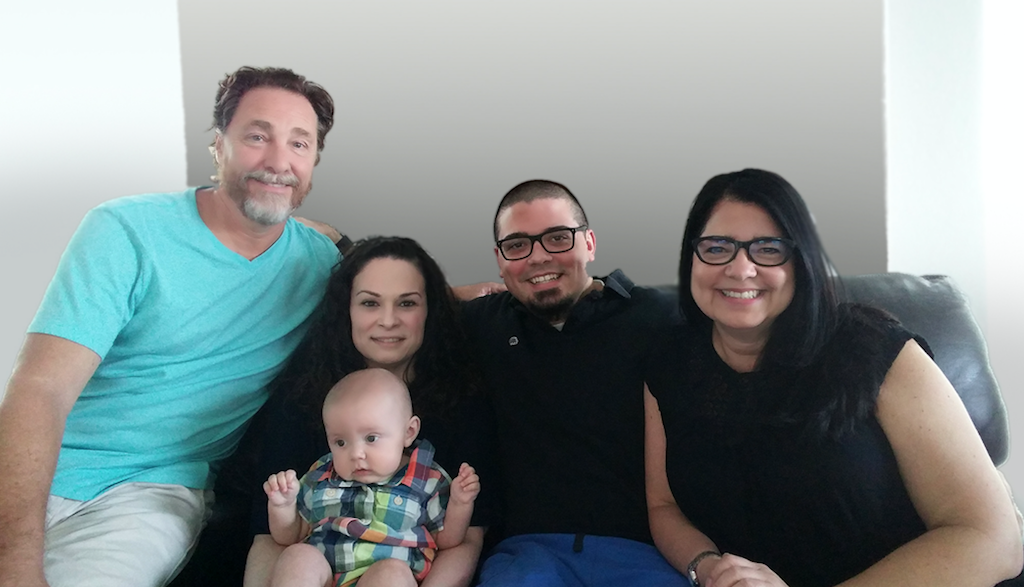 Annette Macias-Hoag (right) enjoys spending time with her family, which includes her husband, Dan; son, Nick; his partner, Jennifer; and her grandson, Jaxson.