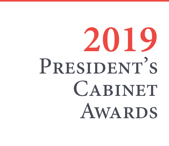 graphic linking to story on 2019 president's cabinet award winners