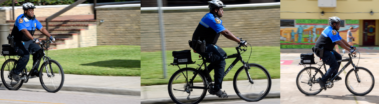 images of curtis dorsey riding his bike