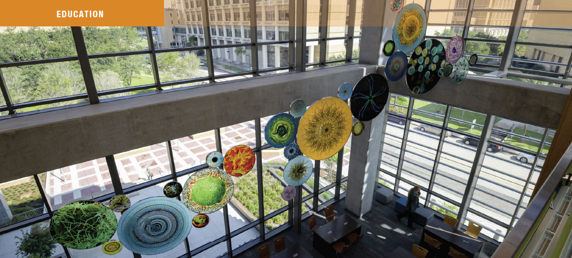 image of art installation in health education center