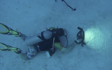 image of Dr. Christopher McQuitty underwater