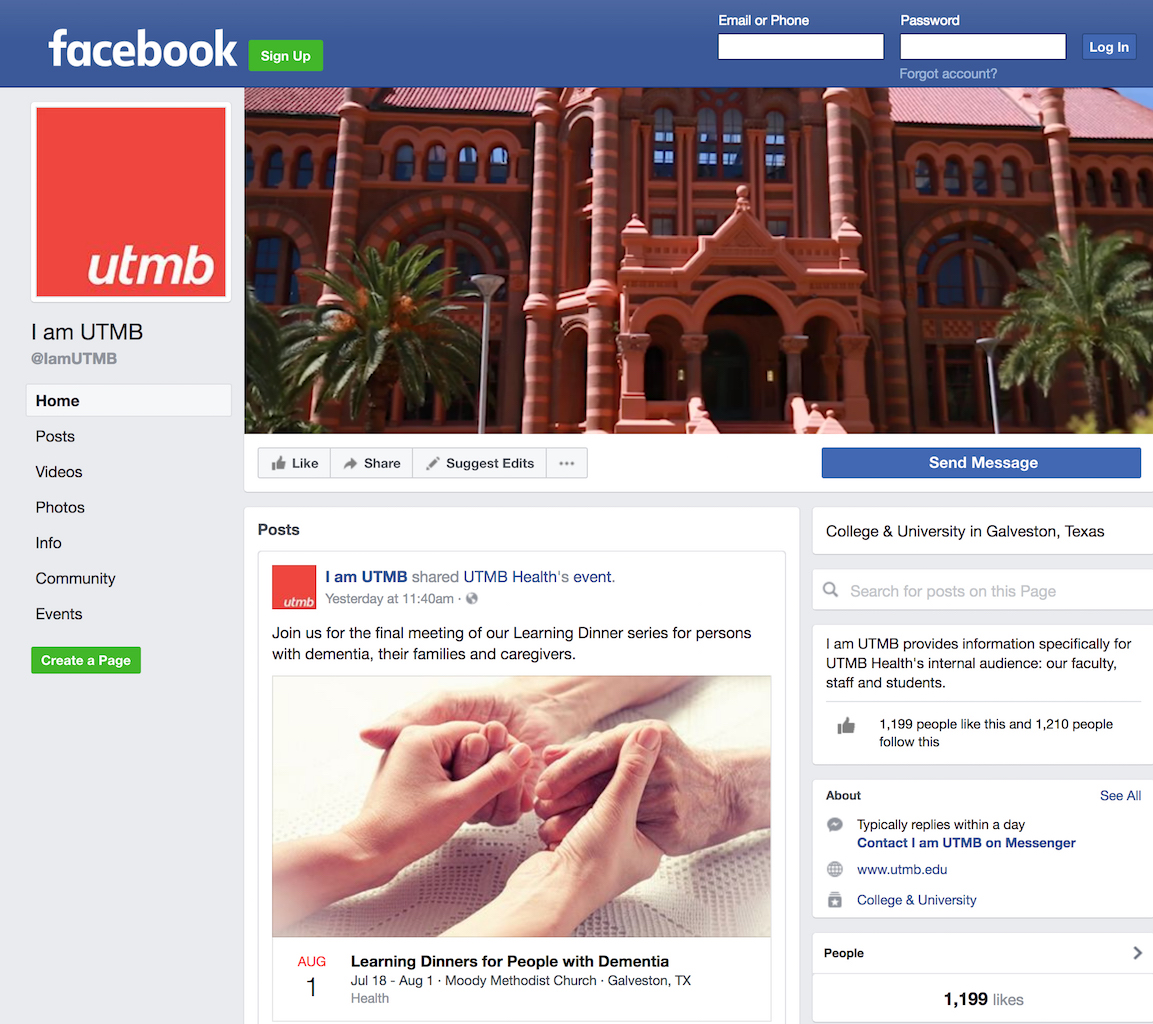 I AM UTMB FB Screen Shot