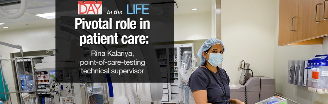 Rina Kalariya working in lab